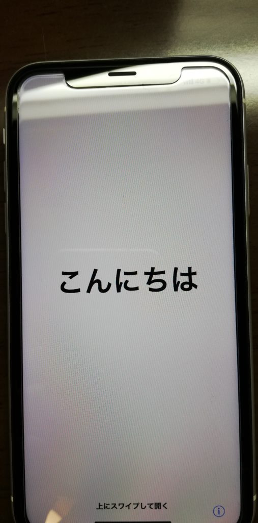 iPhone XR 起動画面